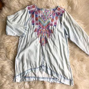 Soft Surroundings Embroidered Mixteca Tunic XL